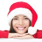 gelukkig kerstfeest santa vrouw — Stockfoto