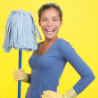 Happy cleaning woman — Stock Photo #22926322