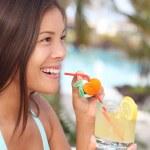 Tropical resort drink woman — Stock Photo #22926504
