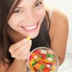 şeker yemek kadın — Stok fotoğraf