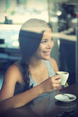 Cafe woman — Stock Photo