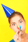 Funny party woman — Stock Photo