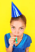 Boring new years party woman — Stock Photo