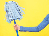 Cleaning mop spring cleaning concept — Stock Photo