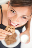Cookie and milk — Stock Photo