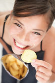 Chips woman — Foto de Stock