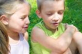 Děti mluvit — Stock fotografie