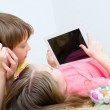 Children watching tablet — Stock Photo #24063659