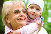 Grandmother With Granddaughter — Stock Photo