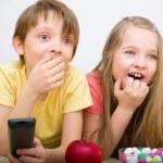 Children watching TV — Stock Photo #26911725