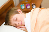 Bedtime for schoolboy — Stock Photo