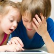 Children using tablet computer — Stock Photo #30036925