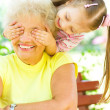 Grandmother with granddaughter — Stock Photo #30037107