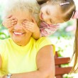 Stock Photo: Grandmother with granddaughter