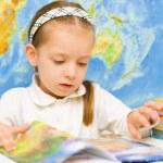 Child is reading in preschool — Stock Photo #31054773