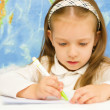 Child is writing in preschool — Stock Photo #31054947