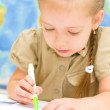 Child is writing in preschool — Stock Photo #31055085