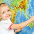 Child by world map — Stock Photo #31055113