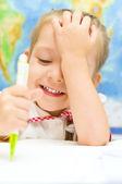 子在写在学龄前 — 图库照片