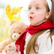 Stockfoto: Child drinking tea