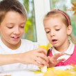 Children doing arts and crafts — Stock Photo #34705437