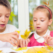 Children doing arts and crafts — Stock Photo #34705547