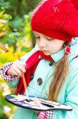 Child painting — Stock Photo