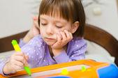 Kind schreiben — Stockfoto