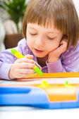 Child write — Stock Photo
