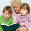 Stock Photo: Grandmother reading book