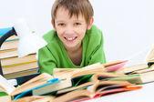 Kid reading — Stock Photo
