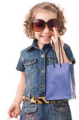 Fashion Shopping Girl Portrait — Stock Photo