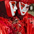 Costumed person at the Venice Carnival 2013 — Stock Photo