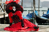 Masked person at the Venice Carnival 2013 — Stock Photo