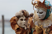 Masked person at the Venice Carnival 2014 — Stock Photo