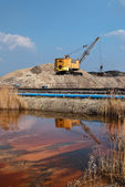 Rope excavator for mining sludge — Stock Photo