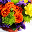 Stock Photo: Flower arrangement (ikebana) in basket