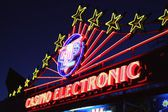 Electronic casino neon lights — Stock Photo