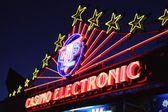 Electronic casino neon lights — Stock Photo