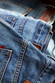 Close-up of blue jeans — Stock Photo