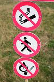 Prohibitory signs — Stock Photo