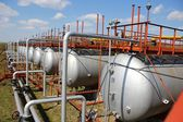 Big gas cylinders (tanks) — Stock Photo