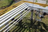 Gas industrial pipelines — Stock Photo