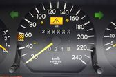 Speedometer and lucky figures at odometer — 图库照片