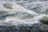 Bubbling water of a mountain river — Stock Photo