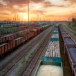 Stock Photo: Cargo trains in HDR