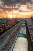 Cargo trains in HDR — Stock Photo