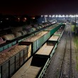 Cargo train station at night — Stock Photo #41485185