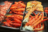 Seafood in a fish market — Stock Photo