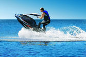 Man on jet ski — Stock Photo